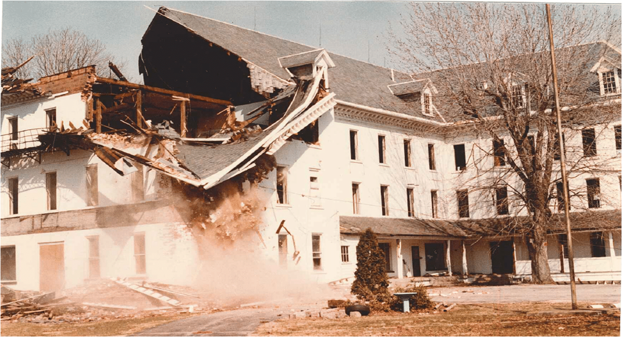 Tearing Down the Old Main Building
